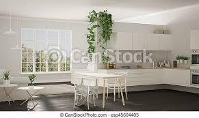 wohnzimmer minimalist raum modern kueche skandinavisch