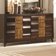 Dublin Drawer Dresser With Two Tone Wood Finish By Coaster Bedroom Furniture