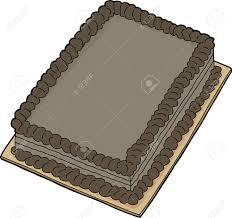 Isolated double chocolate fancy sheet cake cartoon Stock Vector