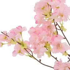 möbel wohnen rosa chagner künstliche blumen kirschblüte