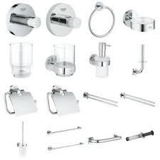 details zu grohe essentials bad accessoires luxus chrom halter kleben bohren bad zubehör