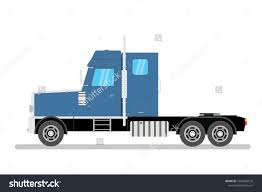 100 Big Blue Truck Black Semi Isolated Stock Vector Royalty Free