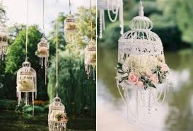 Garden Wedding Decoration With Hanging Birdcages Fairytales Decorating 1689483