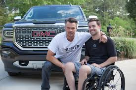 GMC Enlists Josh Duhamel To Support Building For America's Bravest ... Gmc Sierra All Terrain Hd Concept Future Concepts Truck Trend Chevy Dealer Keeping The Classic Pickup Look Alive With This An 1100hp Lml Duramax 3500hd Built In Tribute To A Son Time Lapse Build 2016 Denali Dually Youtube Wyatts Custom Farm Toys Chevygmc Telephone Build 72 Performancetrucksnet Forums Gm Will Electric Motors Inhouse On Upcoming Hybrids 2017 Ultimate Not A But Will End Up Being Slow Rebuild Of My 2013 2500 Truckcar Eisenhower 59 Apache On S10 Frame The 1947 Present Roadster Shop Craftsman C10 Old Trucks Pinterest Rigs