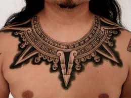 Awesome Aztec Warrior Necklace Tattoo