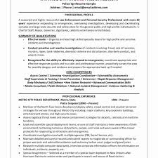 Law Enforcement Resume Proyectoportal