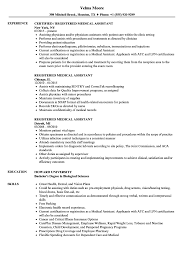 Registered Medical Assistant Resume Samples | Velvet Jobs 89 Examples Of Rumes For Medical Assistant Resume 10 Description Resume Samples Cover Letter Medical Skills Pleasant How To Write A Assistant With Examples Experienced Support Mplates 2019 Free Summary Riez Sample Rumes Certified Example Inspirational Resumegetcom 50 And Templates Visualcv