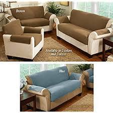 Living Room Chair Covers by Amazon Com Fleece Living Room Furniture Covers Brown Chair