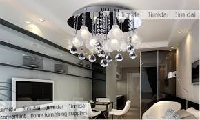 Freeshipping Dining Room Bedroom Ceiling Lamp Modern Simple Warm Flower Crystal Chandeliers 9
