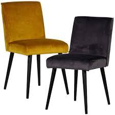 maison esto exclusiver stuhl velvet samt polsterstuhl sessel esszimmer esszimmerstuhl anthrazit samtmöbel