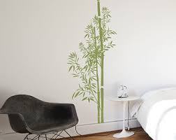 bamboo wall decal etsy