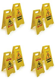 Caution Wet Floor Banana Sign by Banana Cone English Print 6 Pck Amazon Co Uk Office Products