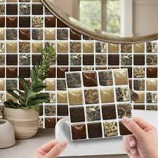 20pcs 3d selbstklebend mosaik kachel aufkleber küche