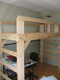 loft bed built using plans from bunk beds unlimited extra long