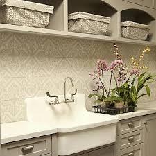 gray cement laundry room backsplash design ideas