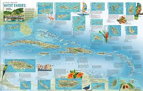A Travelers Map Of The West Indies