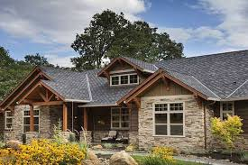 Brick Ranch Converted To Craftsman Rustic House Plans Style Home