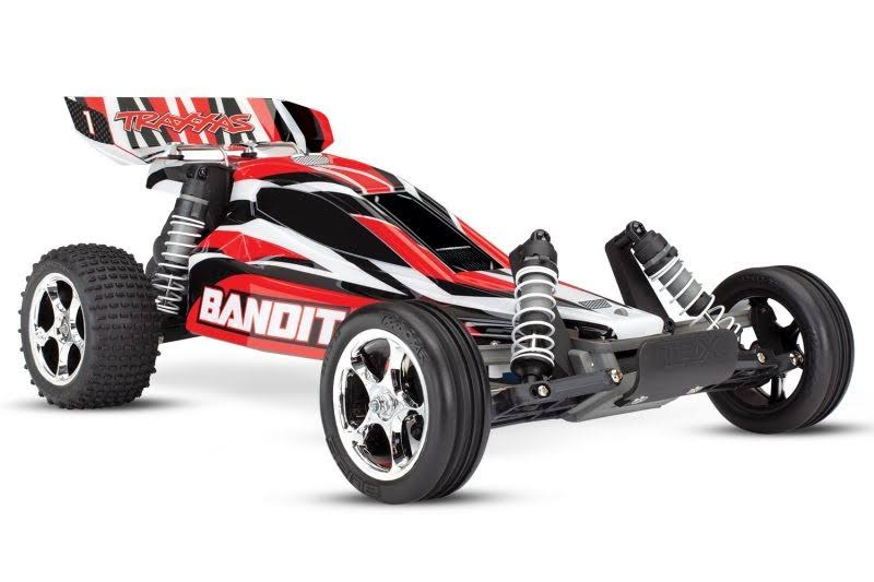 Traxxas Bandit 1/10 RTR Buggy (Red 2) - TRA24054-1-REDX