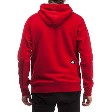 sb icon griptape pullover hoodie red white