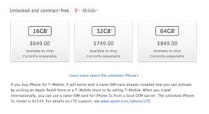 T Mobile Confirms Sale iPhone 5S And iPhone 5C No Simple