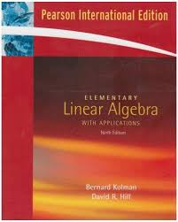 Elementary Linear Algebra Applications By Bernard Kolman