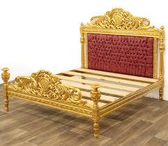 barqoue style wooden bed prunkbett königliches bett