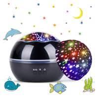 led projektor le sternenhimmel baby nachtlicht 2 in 1 ozean projektor sterne nachttischle 360 grad rotation projektionsle 8 farbwechsel