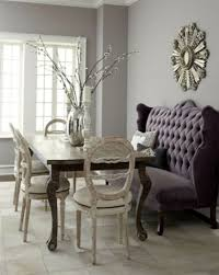 Elegant Upholstered Bench With Back Dining Room Ideas