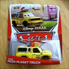 100 Pizza Planet Truck In Pixar Movies Disney PIXAR Cars TODD The PIZZA PLANET TRUCK 2014 RSN Diecast 88