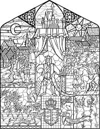 Resultado De Imagen Para Beauty And The Beast Glass Window Adult Coloring PagesColoring SheetsColoring