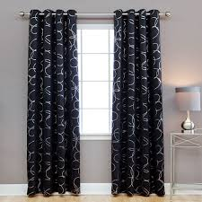 Linden Street Curtains Odette by Home Thermal Insulated Blackout Grommet Top 84 Inch Curtain Panel Pair