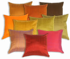 Red Decorative Pillows by Saturna Silk Solid Color Accent Pillows From Pillow Décor