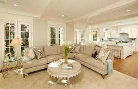 Beige Sectional Living Room Ideas by Benjamin Moore Gray Owl Living Room Traditional With Blue