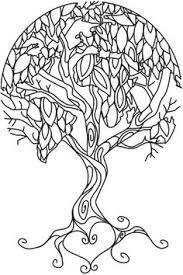 Coloring Page World Earth Tree Portrait