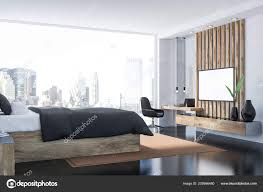 100 White House Master Bedroom Interior Walls Black Floor Panoramic Window