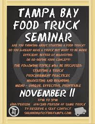 Food Truck Seminar November 11th - Tampa Bay Food Trucks