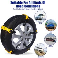 Hot Sale 10pcs Car Yellow Tire Snow Chains Beef Tendon VAN Wheel ...