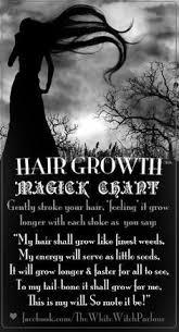 Hair Growth Spell Chant Ritual Magic Magick Book Of