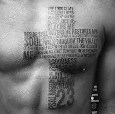 40 Psalm 23 Tattoo Designs For Men Bible Verse Ink Ideas