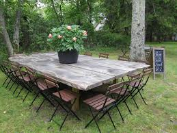 Large Outdoor Wood Table Big Wooden Outside Garden Ebay Round