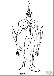 Good Ben Coloring Pages With Ten And 10 Alien Force