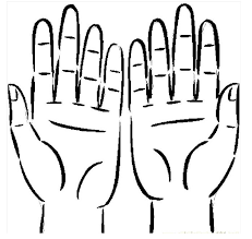 Two Hands Coloring Pages