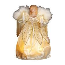 Black Angel Christmas Tree Topper by Amazon Com Kurt Adler 9 Inch 10 Light Ivory And Gold Angel