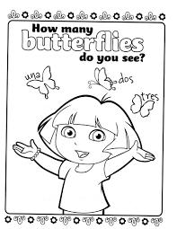 Dora Coloring Page The Explorer