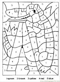 Alligator Color By Numbers Coloring Page