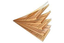 Illustration Showing Multiple Layers Of Engineered Hardwood