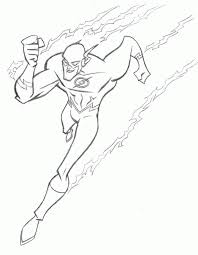 Easy Coloring Pages The Flash Page Tattoo