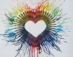 Heres A Different Twist On The Melted Crayon Art Canvas Check It Out Just In Time For Valentines Day Heart Look How Cool This Turned