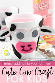Simple Farm Animals Cow Craft For Kids