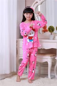 Cartoon Children Long Sleeve Pajamas Boy Girl Autumn Sleepwear